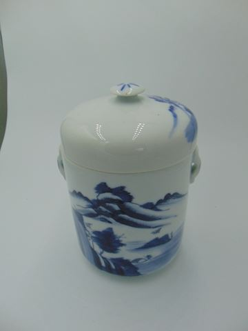 Chinese Blue & White Jar with Lid