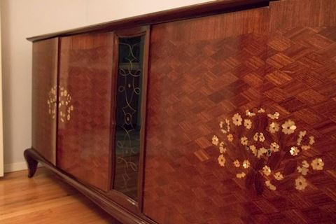 Monumental Attribution to Jules Leleu Art Deco Sid