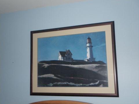 Lighthouse Wall Art and Trashcan