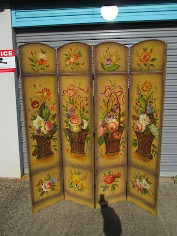 Floral Vintage Wood Divider Beautiful