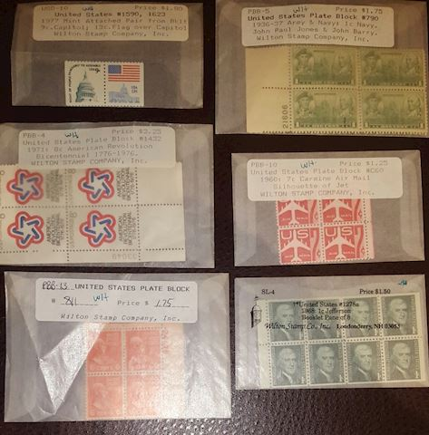 Vintage Stamp Collection of Plate Blocks MNH