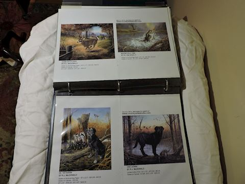 Wildlife Artist R. J. McDonald Studio Proof Book