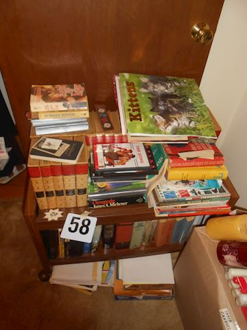 Lot #58 Books - plus cart