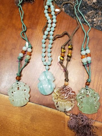 4 Asian Stone Necklaces