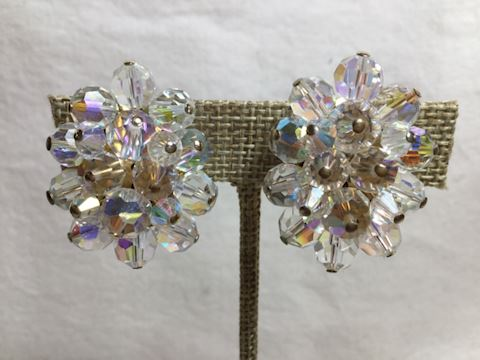 1950's crystal clip earrings #80-88