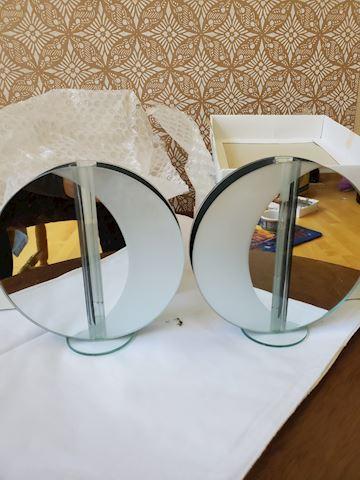 Set of 2 modern mirrored vases (Tsuki)