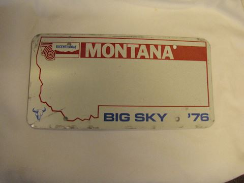 Montana Bicentennial Blank License Plate
