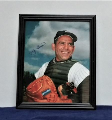 Autographed Picture of Yogi Berra