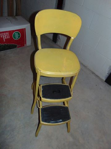 Vintage Chair  Step Stool