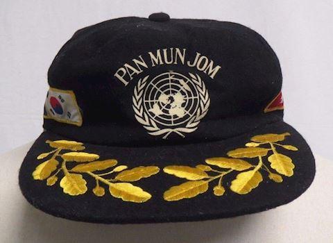 Vintage PAN MUN JOM KOREA DMZ Wool Embroidered Hat