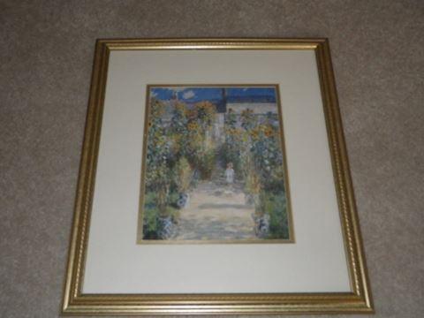 """Monet Print - """"The Artist's Garden"""""""