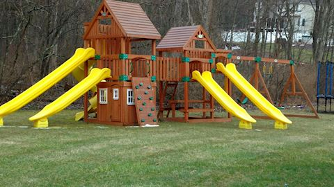 Outdoor Playset Swing Set Play System