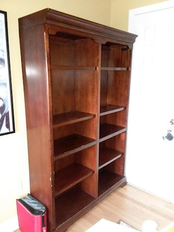 Brown Wood Bookshelf