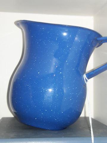 Blue enamel metal pot/pitcher