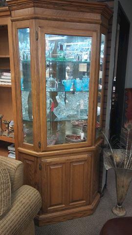 Corner Curio Cabinet - #4419