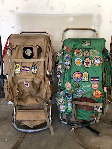 Vintage Hiking Camping Bags Backpacks