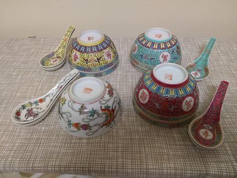 K  104   Various Chinese bowls & spoons