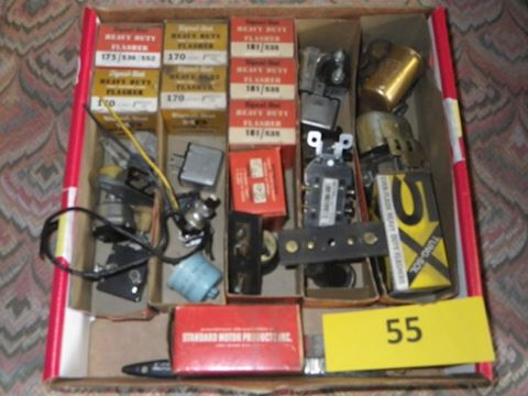 Lot #55 - Electrical Parts and Heavy Duty Flashers
