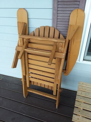 Folding Adirondack Chairs & Accent Table