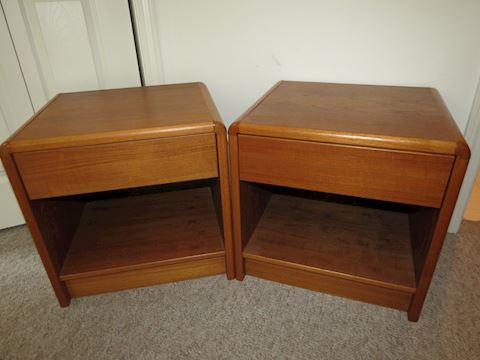 (2) Mid Century Made in Denmark Teak Side Tables