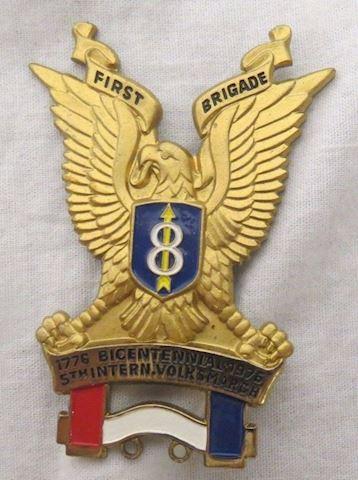 1776-1976 Bicentennial Golden Eagle Pin First Brig