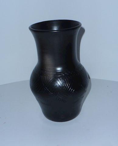 N.C. Cherokee Bigmeat Vase, Signed by L. Maney