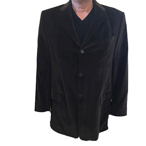 Men's Brown Velvet Blazer Jacket - Size Large