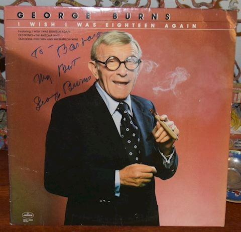Hand Signed George Burns Record Album