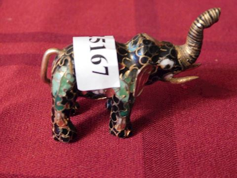 167 Small Closinnia Metal Elephant Figurine