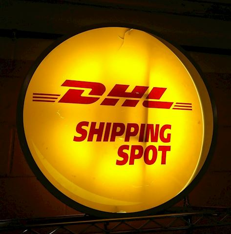 """24"""" DHL Shipping Spot Lighted Advertising Sign"""