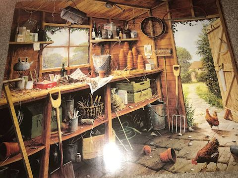 Garden Shed by E. Hersey Poster 16 X 20