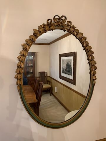 Antique Baroque style wall mirror