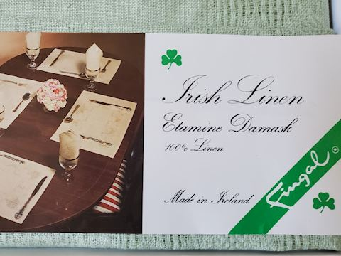 Irish linen luncheon set for 4
