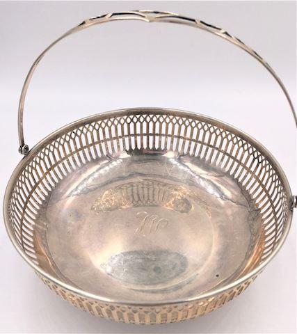 Webster Sterling Silver Basket with Handle