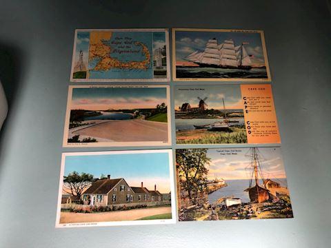 Lot of 6 Cape Cod Postcards