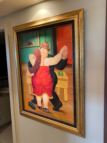 BOTERO OIL PAINTING. - Fine Reproduction