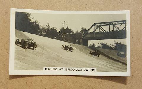 Rare 1930s Racing at Brooklands Photo Tobacco Card