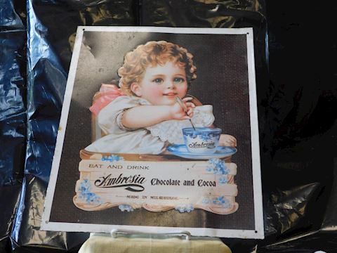 Reproduction Ambrosia Chocolate tin sign