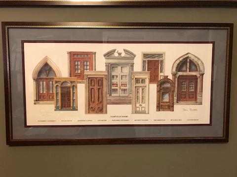 "Phil Ponder ""Doors of Nashville"" framed ltd. ed."