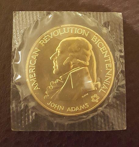 Uncirculated John Adams American Revolution Coin