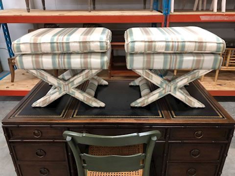 Vintage 20th Century X benches