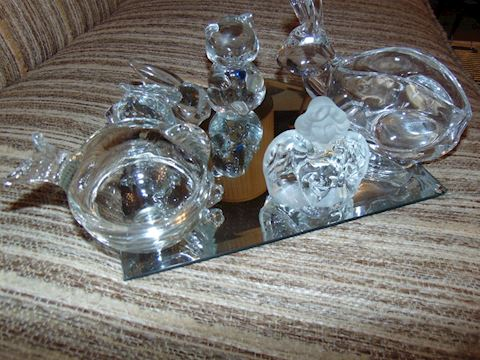 Glass Figures and Serving Pieces