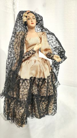 Victorian Style Hand Painted Doll Figurine