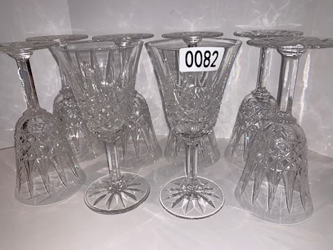 0082 St. Louis France Crystal water goblets