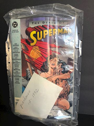 "DC Comics ""The Death of Superman"" Sealed"