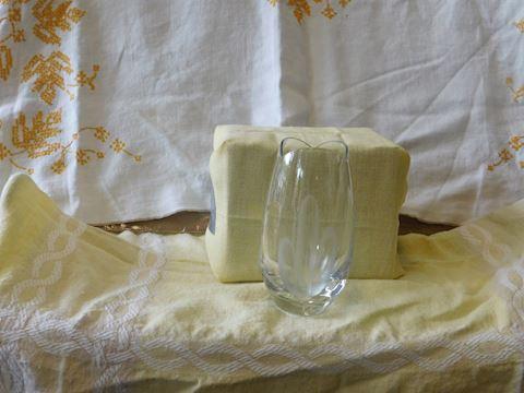 Lead Crystal Vase Cactus Etching