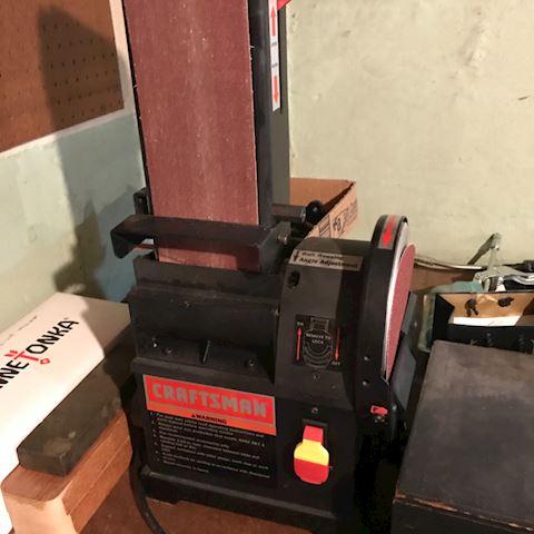 Craftsman belt sander and saw