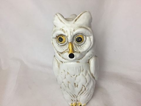 Porcelain Owl Pitcher - by R.E.M.O. Italy (1975)