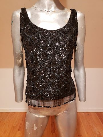 Onyx sequins/beads sweater British Colony HK