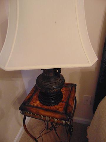 Antique Copper Converted Gas Lamp